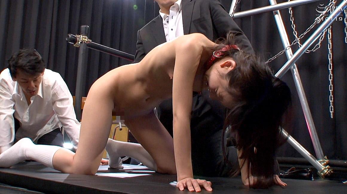 全裸四つん這いで辱めに耐える女 あべみかこAV女優画像 -SMJP
