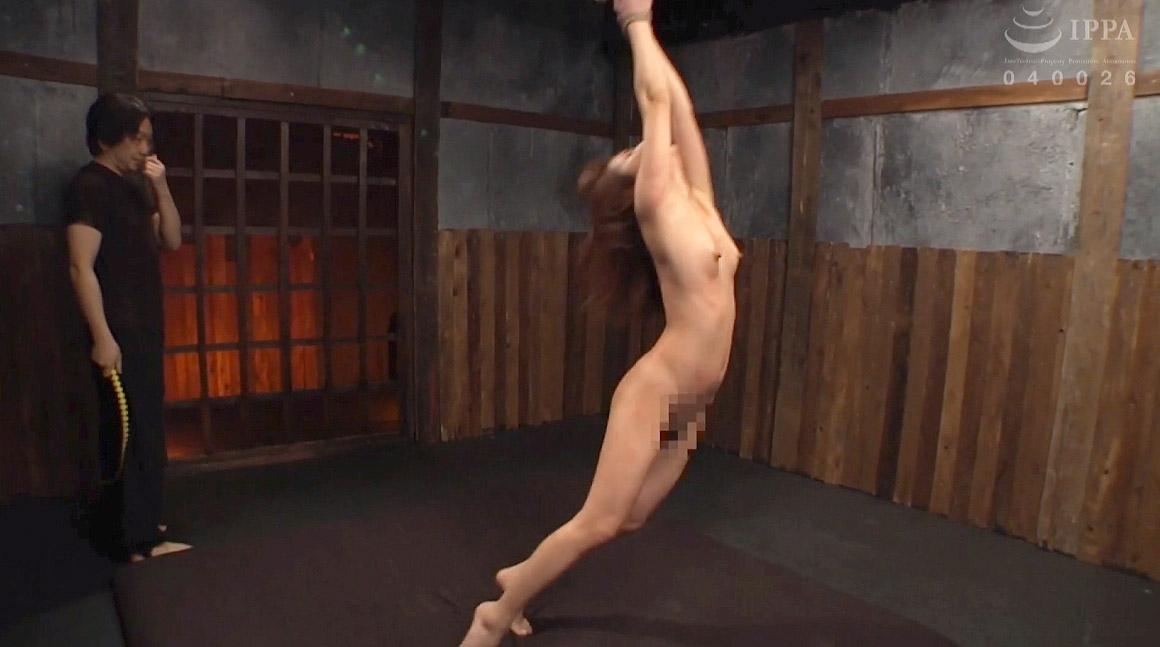 一本鞭の激痛に耐える女のSM画像 花咲いあん 一本鞭調教画像 -SMJP