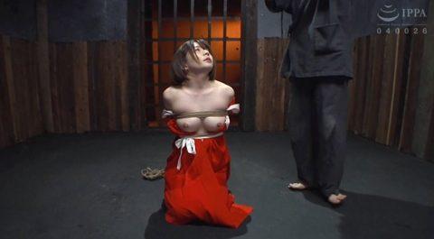胸を晒し正座してSM調教を待つM女の画像 麻里梨夏-SMJP
