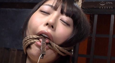 SM調教画像 麻縄で猿轡混爆される女の画像 七海ゆあ -SMJP
