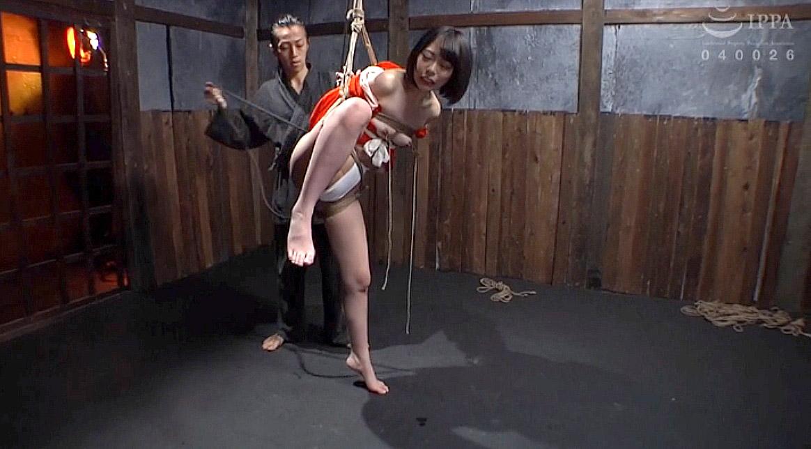 SM緊縛調教 吊り上げられていく女のAVエロ画像 七海ゆあ -SMJP