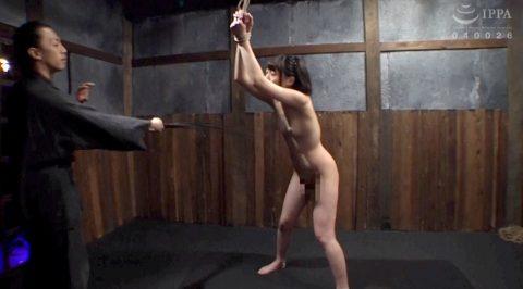 SM調教 胸への鞭打ち調教される女のAV画像 七海ゆあーSMJP