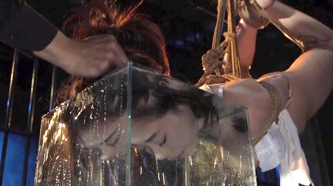 SM調教 水責めで呼吸制御プレイされるM女の画像 七海ゆあ -SMJP