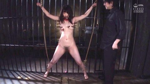 SM調教で大の字に縛られ洗濯ばさみ責めされる女の画像 妃月るい-SMJP