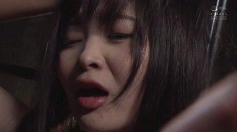 ビンタ画像。何発も強烈なマジビンタをされて汗が噴き出す女のエロ画像 妃月るい-SMJP
