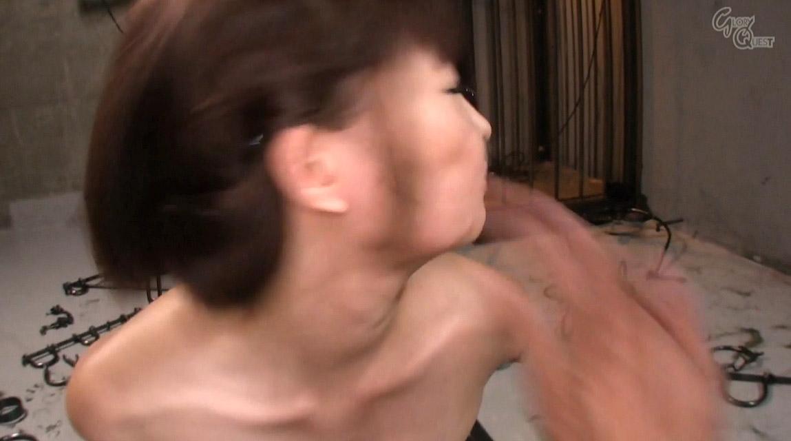 全裸で拘束されて強烈ガチビンタされる女のエロ画像 妃月るい-SMJP hidukirui110