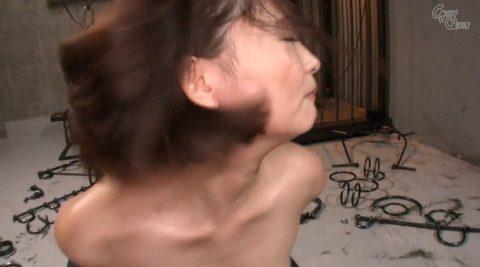 全裸で拘束されて強烈ガチビンタされる女のエロ画像 妃月るい-SMJP hidukirui111