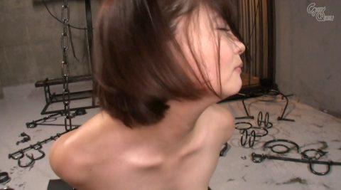 全裸で拘束されて強烈ガチビンタされる女のエロ画像 妃月るい-SMJP hidukirui112