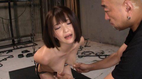 拘束されて乳首をひねりつぶされる女の画像 妃月るい-SMJP