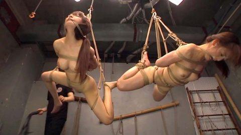 SM緊縛吊り責めSM調教 口縄をされて残酷に吊り上げられる女の画像 美咲結衣/SMJP