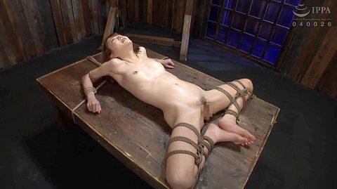 拷問緊縛画像 SM拷問緊縛されるスレンダー美女 涼川絢音