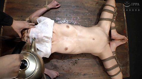 SM水責め画像、拷問緊縛されて水責めされる女の画像 涼川絢音