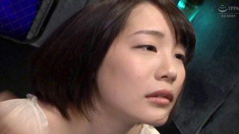 ビンタAV画像、激しいビンタをされて服従とドMの表情になる女の画像 鈴村あいり