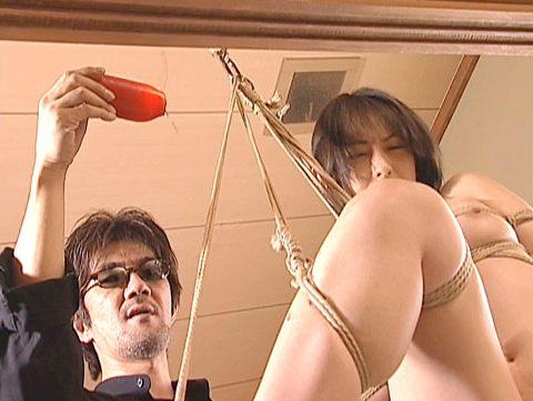 SM緊縛調教画像、縛られて熱蝋燭責めを受ける女の画像 光月夜也