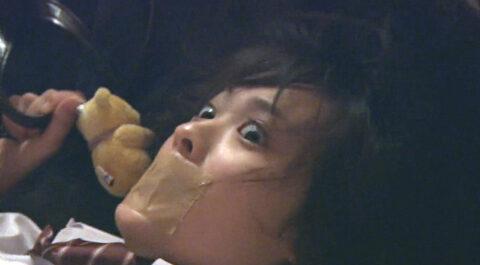 TVドラマ 映画の有名人芸能人エロシーン画像、口にガムテープを貼られて襲われる女の画像 北乃きい