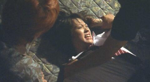 ドラマライフより テレビドラマの強姦シーン 濡れ場 押さえつけて犯される女 北乃きい