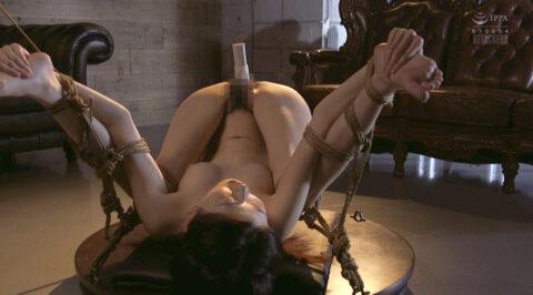 強制開脚縛りでバイブ固定放置される女の画像、強制開脚縛りにされてバイブを突っ込まれる女の画像 有坂深雪/SMJP=なおとSM=