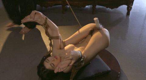 究極羞恥画像、M字開脚に縛られてマングリ返しでバイブ固定される女の画像 有坂深雪/SMJP=なおとSM=