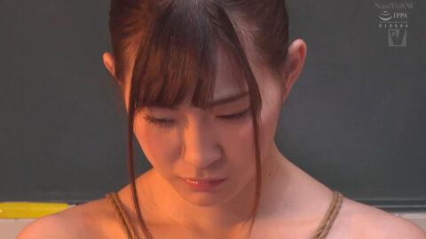 マゾ顔女優の画像、緊縛されて諦めと受け入れのドMな表情になる女の画像 美谷朱里/SMJP=なおとSM=